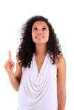 pięknego włosy długa portreta kobieta Obrazy Royalty Free