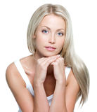 pięknego włosy długa prosta kobieta obrazy stock