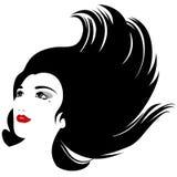 pięknego włosy długa sylwetki kobieta Obraz Stock