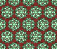 Pięknego wektorowego druku Bezszwowy wzór Mandala kwiaty ustawiający z czerwonym tłem Obrazy Royalty Free