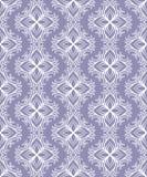 Pięknego wektorowego druku Bezszwowy wzór Mandala Kwitnie z błękitnym tłem Obrazy Stock
