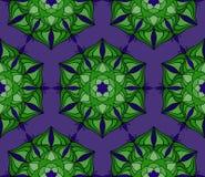 Pięknego wektorowego druku Bezszwowy wzór Mandala Kwitnie z błękitnym tłem Zdjęcie Royalty Free