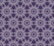 Pięknego wektorowego druku Bezszwowy wzór Mandala Kwitnie z błękitnym tłem Fotografia Royalty Free