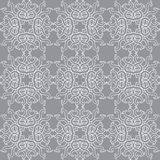 Pięknego wektorowego druku Bezszwowy wzór Mandala Kwitnie z popielatym tłem Obrazy Royalty Free