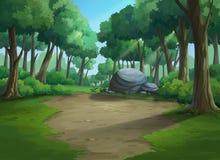 Pięknego widoku dżungla plenteous royalty ilustracja