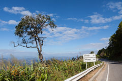Widoku punkt przy Kiw Lom górą, Tajlandia Zdjęcie Stock