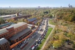 Pięknego widoku puszek na Moskwa okręgu zdjęcia royalty free