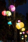 Pięknego wielo- koloru chiński lampion jest kolorowy Fotografia Stock