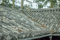 Pięknej architektury drewniani domy, Vuong Domowy pałac fotografia stock