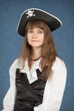 pięknej błękitny dziewczyny kapeluszowi pirata potomstwa Obraz Royalty Free