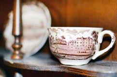 Pięknej białej porcelany herbaciana filiżanka Zdjęcie Royalty Free