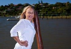 Pięknej blondynki dojrzała kobieta Obraz Royalty Free