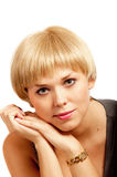 pięknej blondynki dziewczyny dobra włosiana skóra Obraz Stock