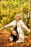 pięknej blondynki szczęśliwy portret obraz stock