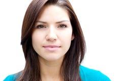 pięknej brunetki świeża skóra Fotografia Stock