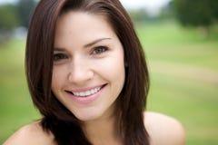 pięknej brunetki świeża skóra Obrazy Royalty Free