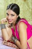 pięknej brunetki indyjska portreta kobieta obrazy stock
