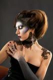 pięknej brunetki piękny portret Obraz Royalty Free