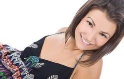 pięknej brunetki uśmiechnięta kobieta obraz stock