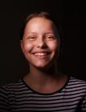 pięknej dziewczyny szczęśliwy nastoletni Obrazy Royalty Free