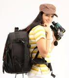 pięknej dziewczyny trybowy target401_0_ Fotografia Stock