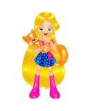 pięknej dziewczyny złoty włosy Zdjęcia Royalty Free