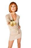 pięknej dziewczyny z włosami czerwień Zdjęcie Stock