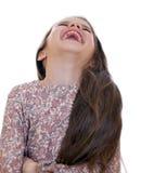 Pięknej dziewczyny zabawy prawdziwy śmiać się obraz stock