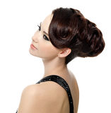 pięknej fryzury nowożytna kobieta obraz stock