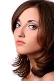pięknej kamery przyglądająca słodka kobieta obraz stock
