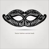 Pięknej mody carnaval maska ręka patroszony wektor Zdjęcia Royalty Free
