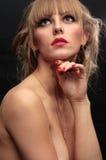 pięknej mody nagi portret Obrazy Royalty Free