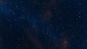 Pięknej nocy gwiaździsty niebo zdjęcie wideo