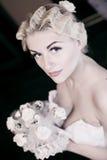 pięknej panny młodej smokingowy biel Fotografia Royalty Free