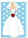 pięknej panny młodej sukni mody ślubni potomstwa Fotografia Stock