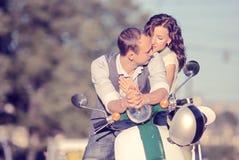 pięknej pary szczęśliwi potomstwa Zdjęcia Royalty Free