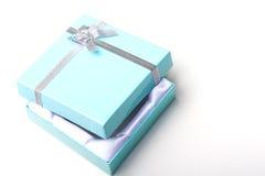 pięknej pudełkowatej eleganckiej pustej prezenta biżuterii otwarty wierzchołek Obrazy Royalty Free