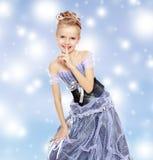 pięknej smokingowej dziewczyny mały princess zdjęcia stock