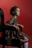 pięknej smokingowej dziewczyny mały target1465_0_ Obraz Royalty Free