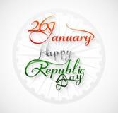 Pięknej 26 Stycznia kaligrafii republiki dnia szczęśliwy tekst Zdjęcia Royalty Free