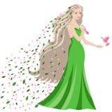 pięknej sukni dłudzy pokoju wiosna kobiety potomstwa Obraz Stock