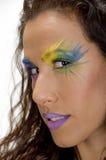 pięknej twarzy żeńska pozy strona Zdjęcie Royalty Free