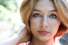 pięknej twarzy zmysłowa kobieta Obrazy Stock