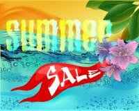 Pięknej wody powierzchni lata ilustracyjna sprzedaż Obraz Royalty Free