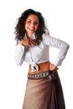 pięknej zabawy roześmiana kobieta zdjęcie royalty free
