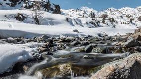 Pięknej zimy panoramy Jeziorny wzrost Timelapse 4k zbiory wideo