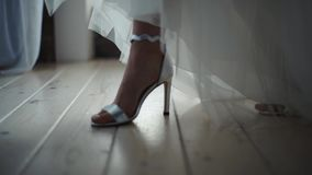 Piękni ślubów buty zdjęcie wideo
