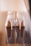 Piękni ślubów buty Zdjęcie Stock