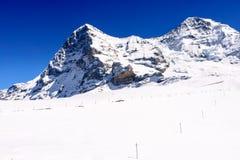 Piękni Śnieżni Alps Halni Obrazy Royalty Free