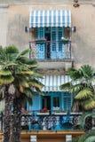 Piękni Śródziemnomorscy balkony Zdjęcia Stock